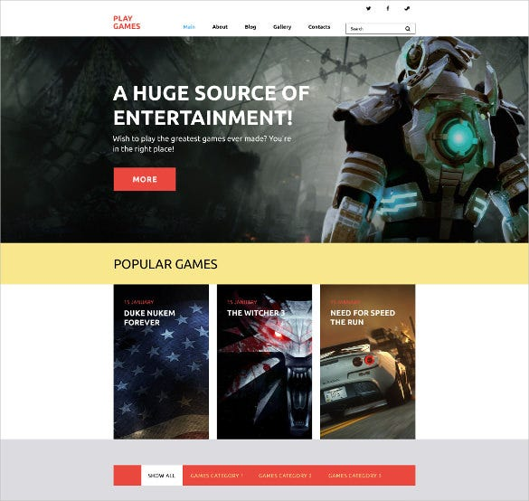 play games portfolio wordpress theme