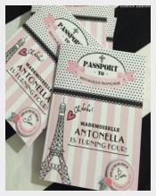 PASSPORT Style Parisian Birthday Invitations Parisian Spa Any Age
