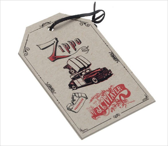 zippo gift tag free download