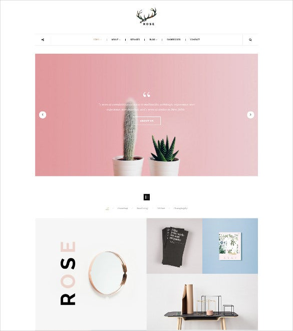 minimalist agency architecture blog wordpress portfolio theme