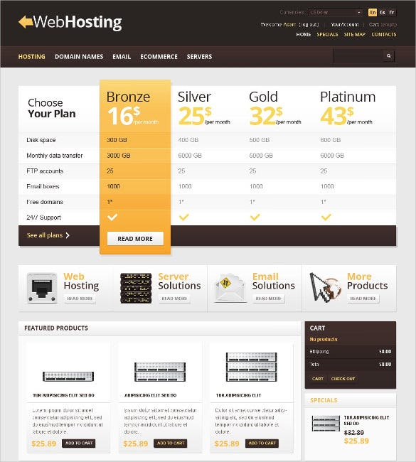 web hosting online prestashop theme