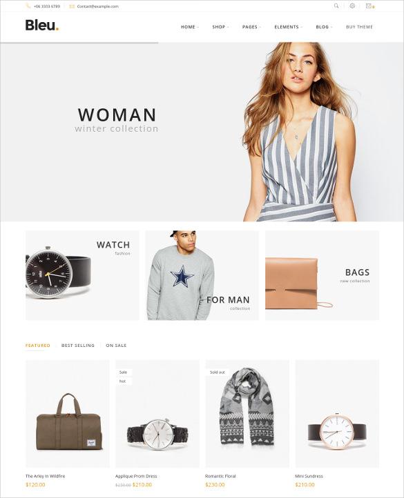 fashion responsive ecommerce theme