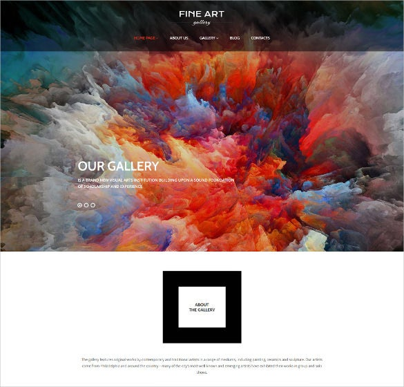 art gallery responsive photography wordpress theme