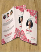 Floral Funeral Program Template | Printable Memorial program