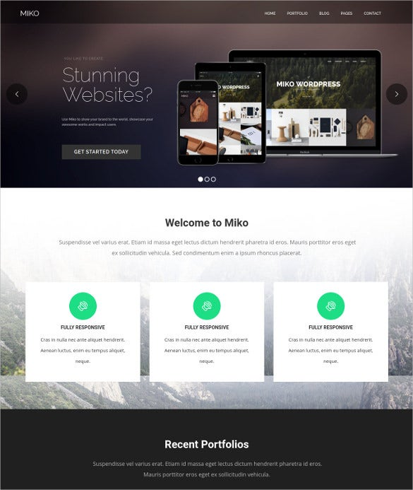 clean business wordpress photography theme