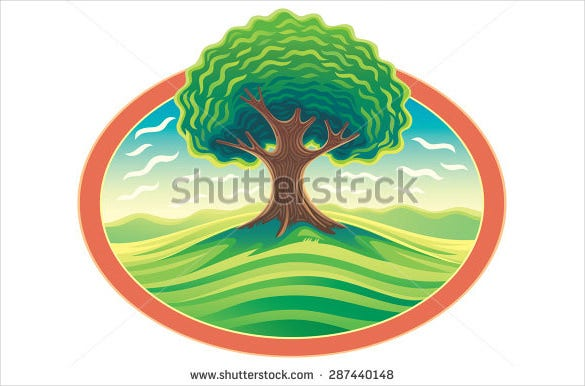 nature landscape of tree logo