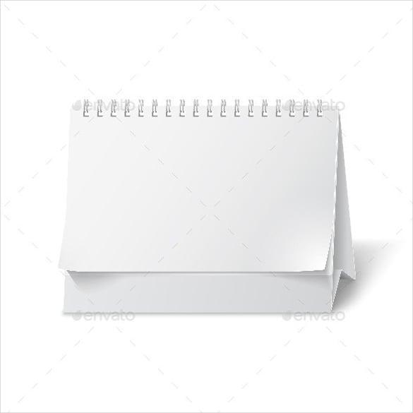 simple blank paper desk calendar