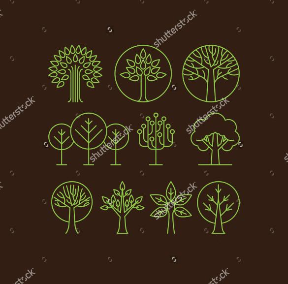 vector organic tree logo