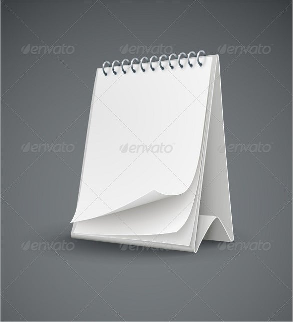 blank calendar template with blank pages