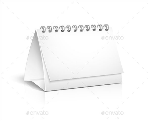 blank spiral calendar for desktop