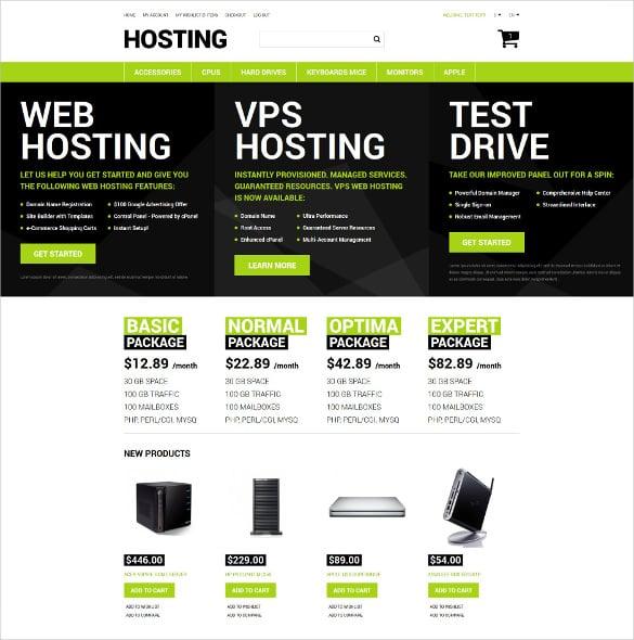 pro hosting store magento theme