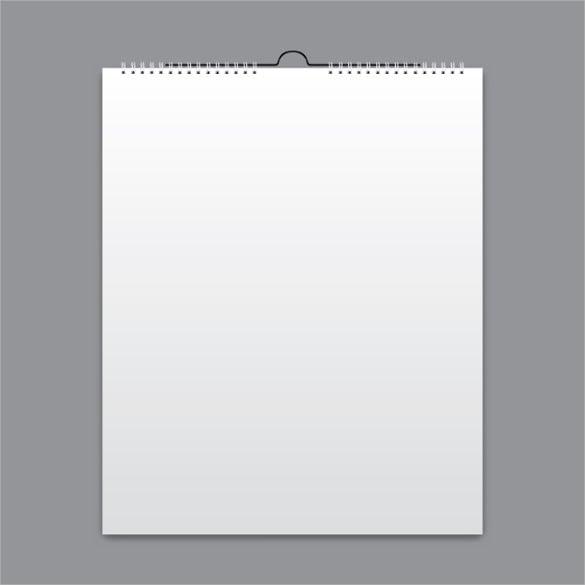 simple blank calendar card design