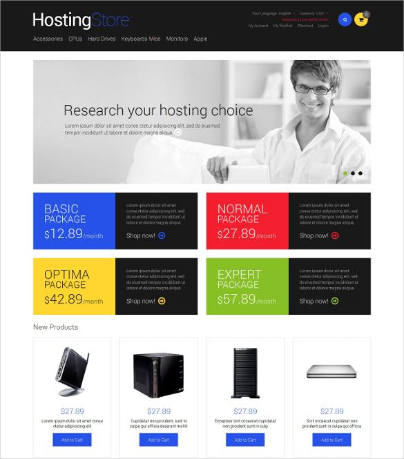 hosting responsive magento theme