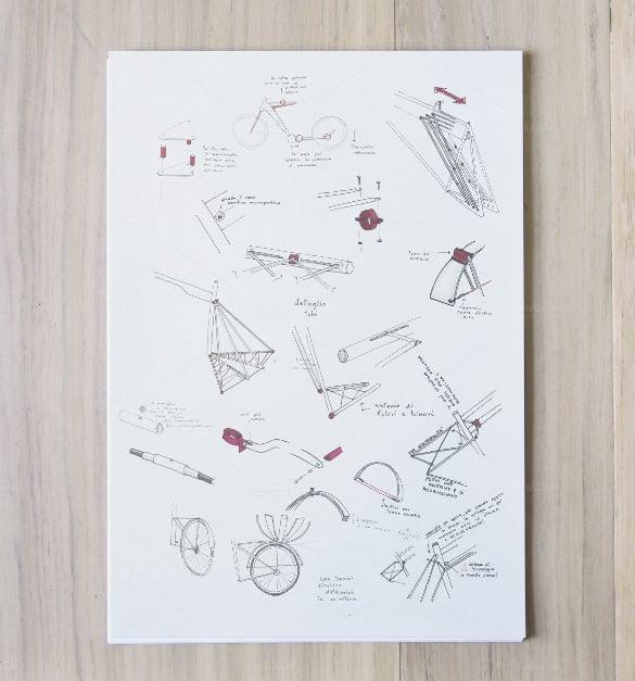 sketch a4 vertical paper mockup