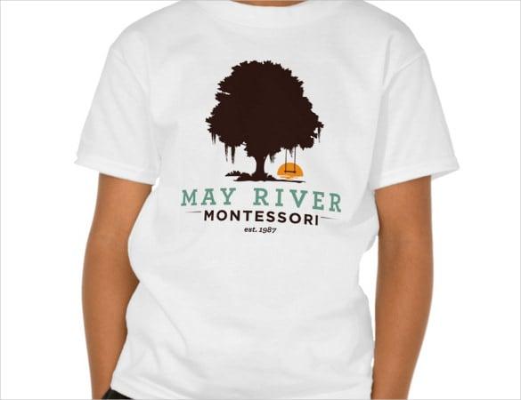 tree logo on t shirt