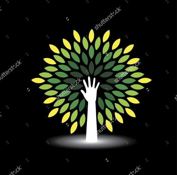 eco friendly tree logo template