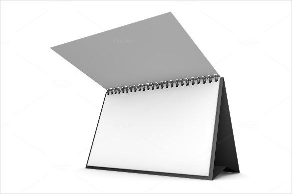 blank desk calendar 3d template