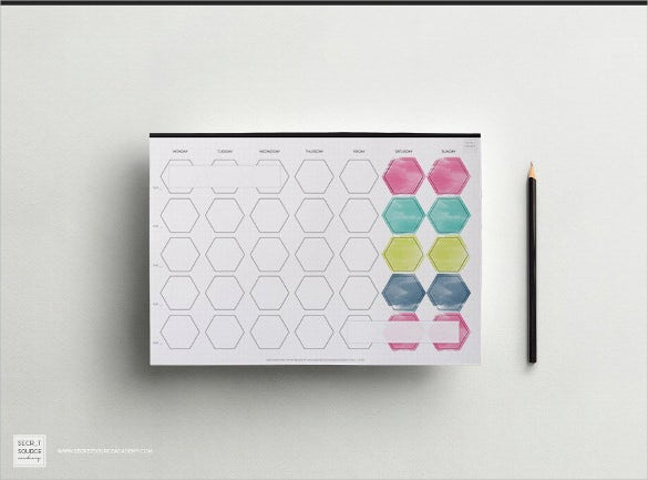 monthly weekly planner blank calendar printable