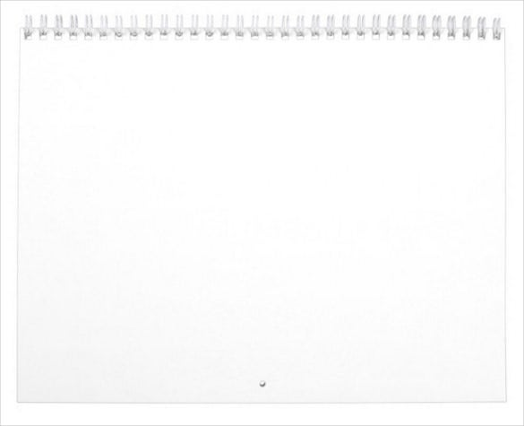 custom printed blank calendar