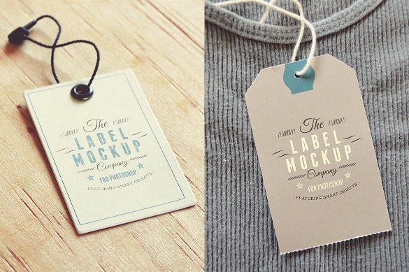 labels logo mockup tag printable template