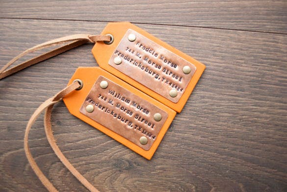 engraved luggage tag printable template
