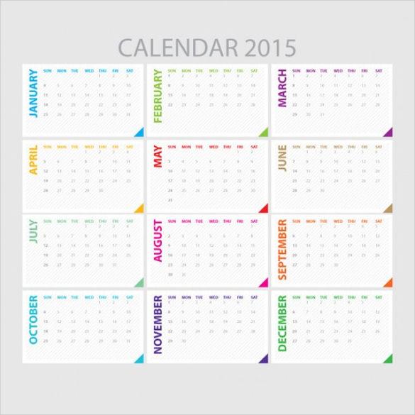 free vector calendar template
