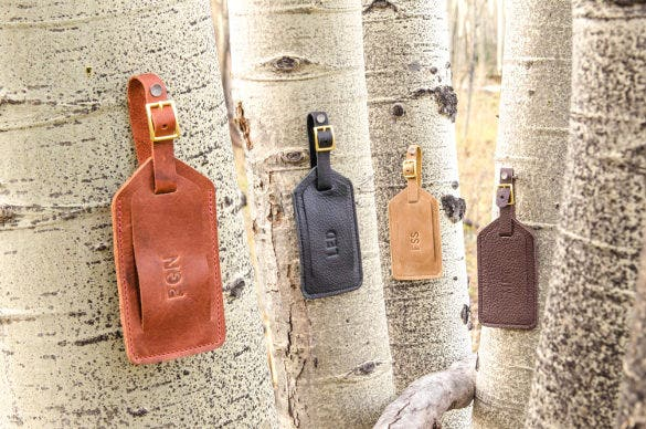 Personalized Leather Luggage Tag With Printable Template