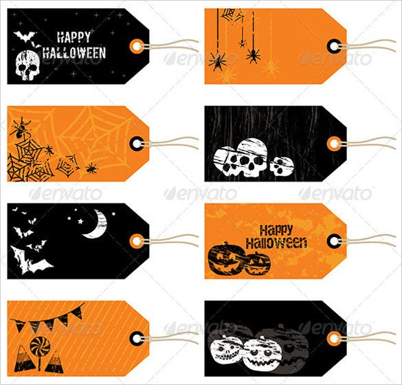 halloween gift printable tag template download