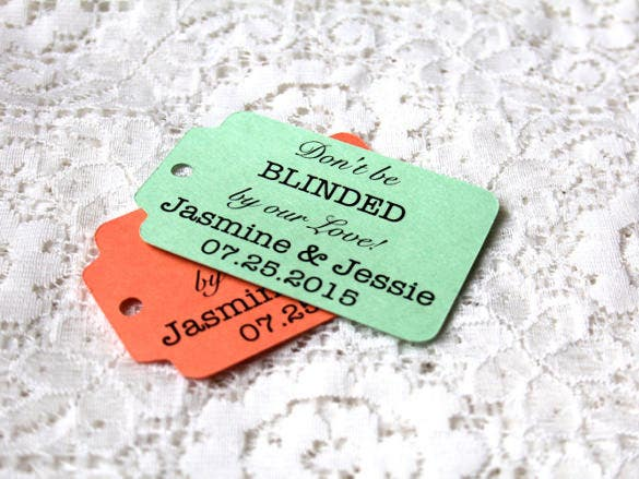 blinded by love wedding favor tag printable