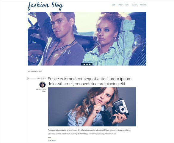 fashion news drupal blog theme
