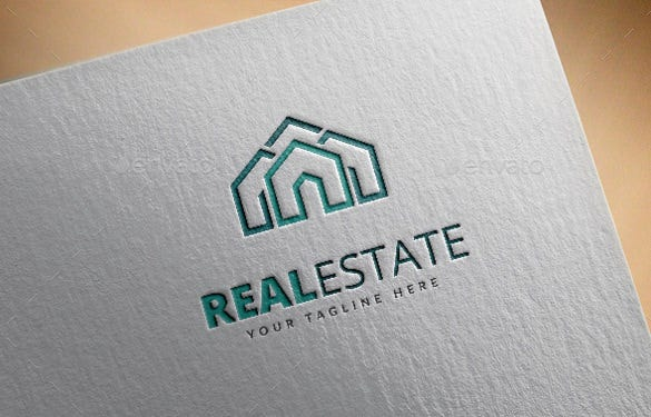 real estate logo vector eps template