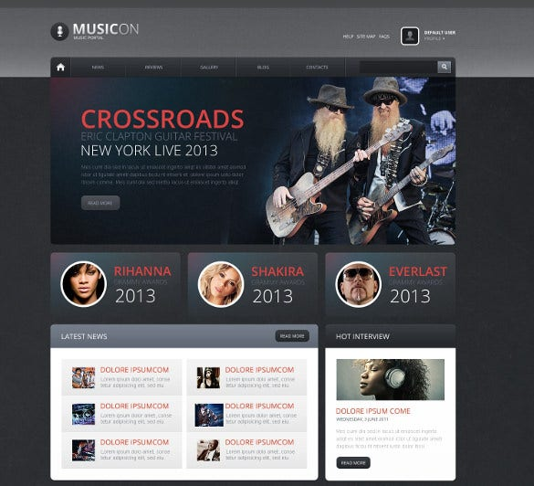 music news portal drupal template1