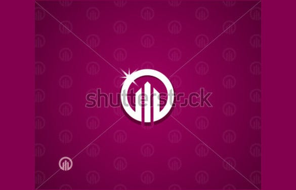 real estate logo template in background
