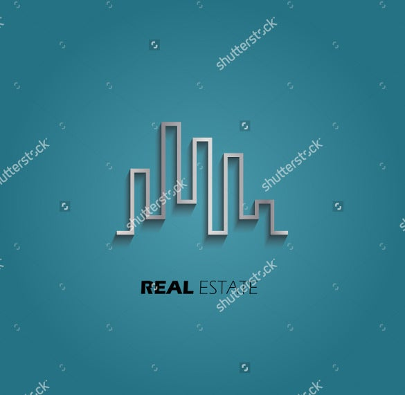 city skyline real estate logo