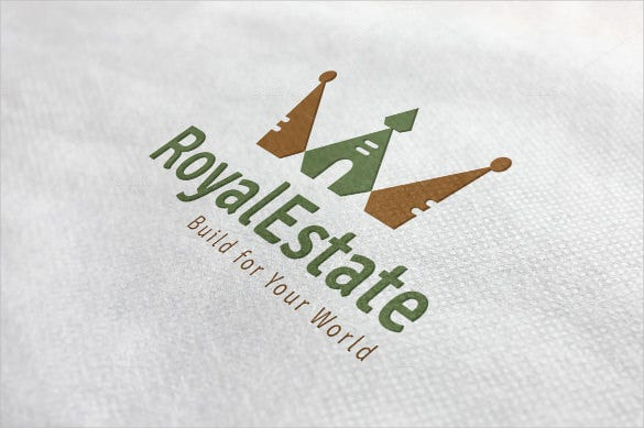 real and royal estate logo template