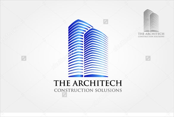 the architect real estate logo vector download