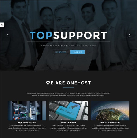 one page wordpress hosting website theme
