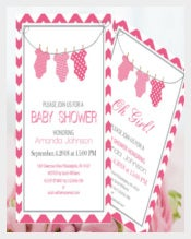 Onesie Baby Shower Invitation Editable PDF
