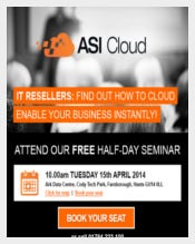 Email Seminar Invitation for ASI Cloud