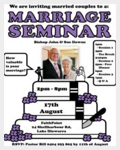 Marriage Seminar Invitation for Every one
