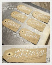 Handwritten Calligraphy Personalized Gift Tags Template