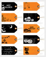 Halloween Gift Tags Template
