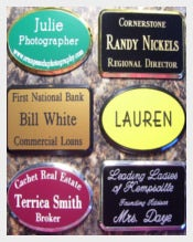 Framed Custom Engraved Name Tags Template