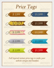 A Set Of 10 Price Tags With Different Texture