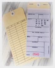Jumbo Vintage Inventory Manila Tags