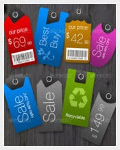 6 Color Styles Price Printable Tag Template