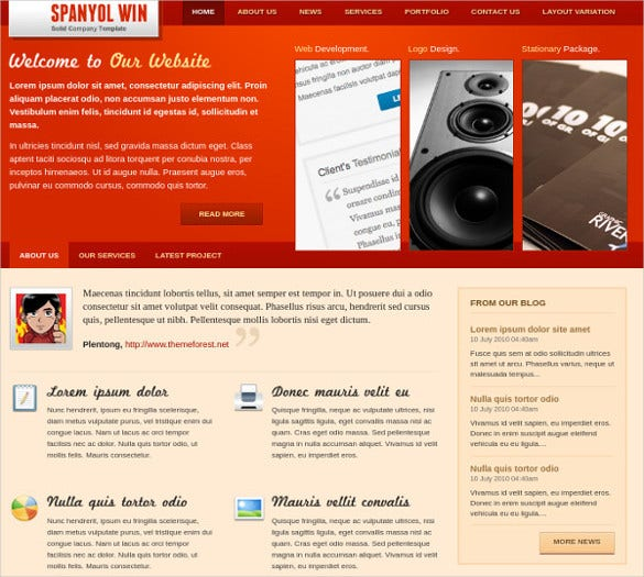 simple corporate php template 1412