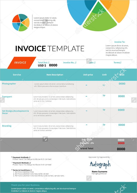 Invoice Design Template. Module - Accounting & Invoicing - Invoice
