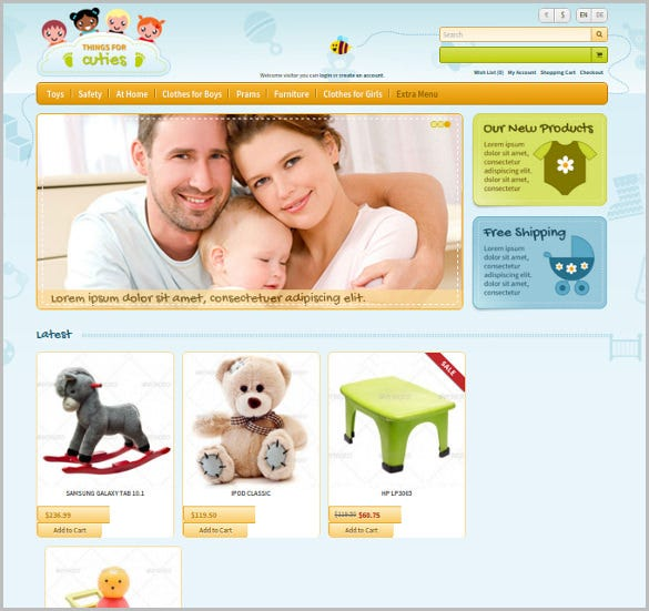 charity opencart baby kids template