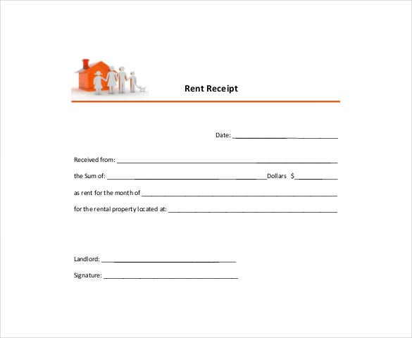 Rental Receipt Template 30 Free Word Excel PDF Documents – Monthly Rent Receipt Format